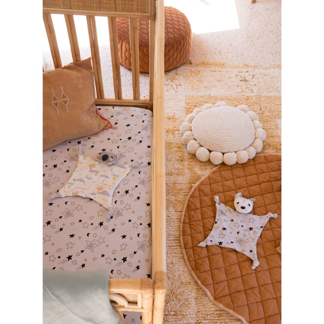 Blankie + Cot Sheet Bundle - Wolfie