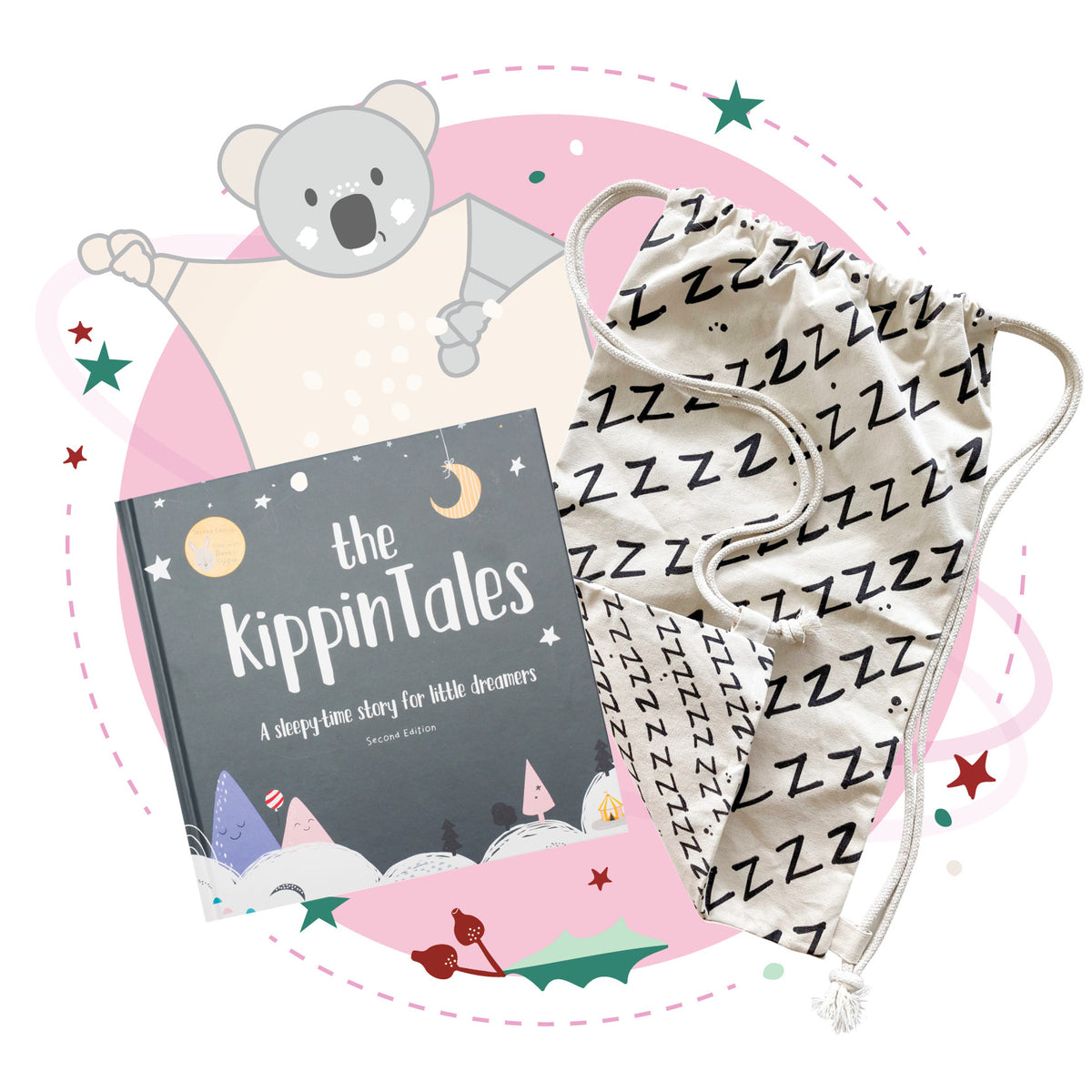 Storytime Cuddles Christmas Kit (choose your Blankie). FREE NAPSACK