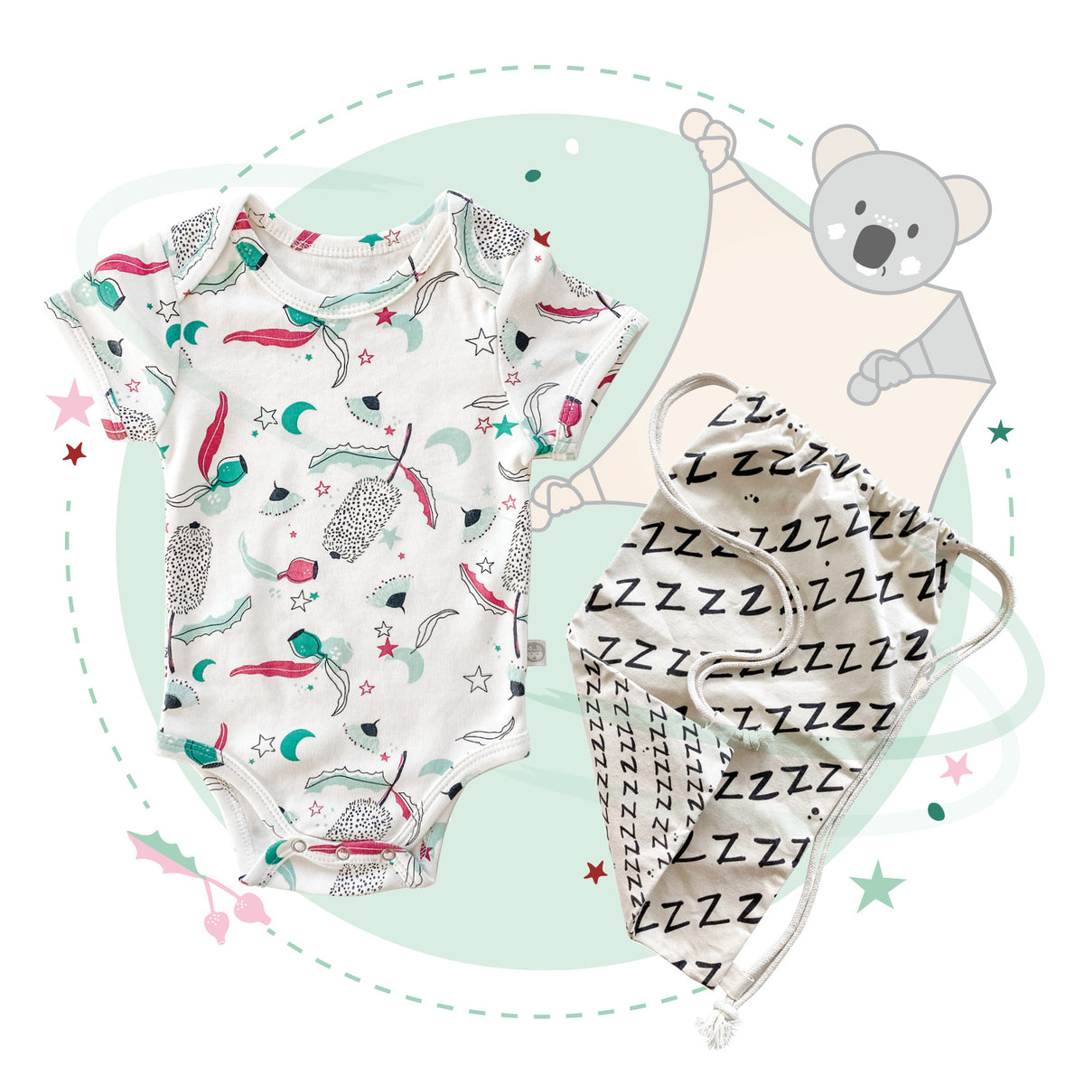 Short Jolly Napper Christmas Kit (choose your Blankie). FREE NAPSACK