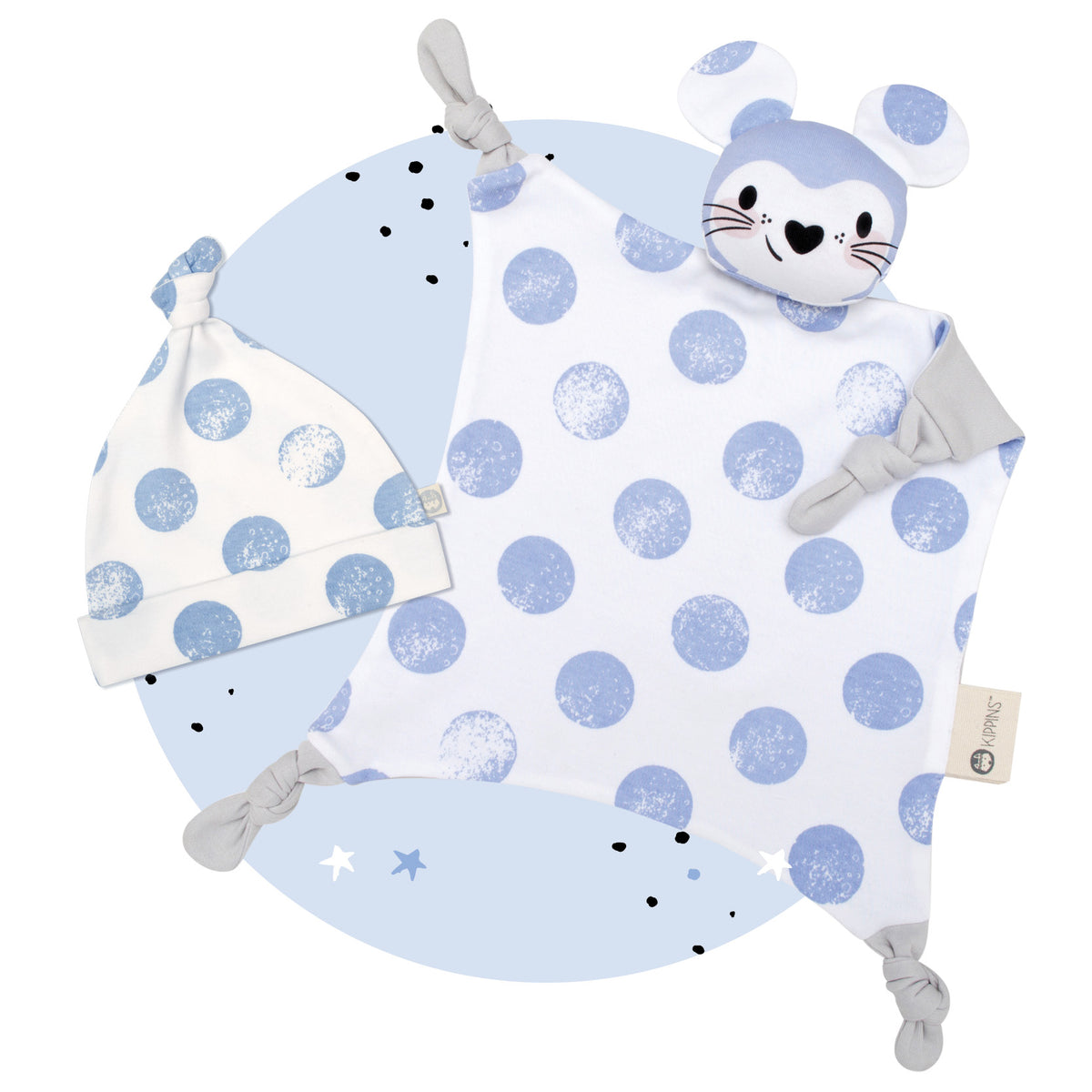 Beanie & Blankie Set - Luna the Mouse