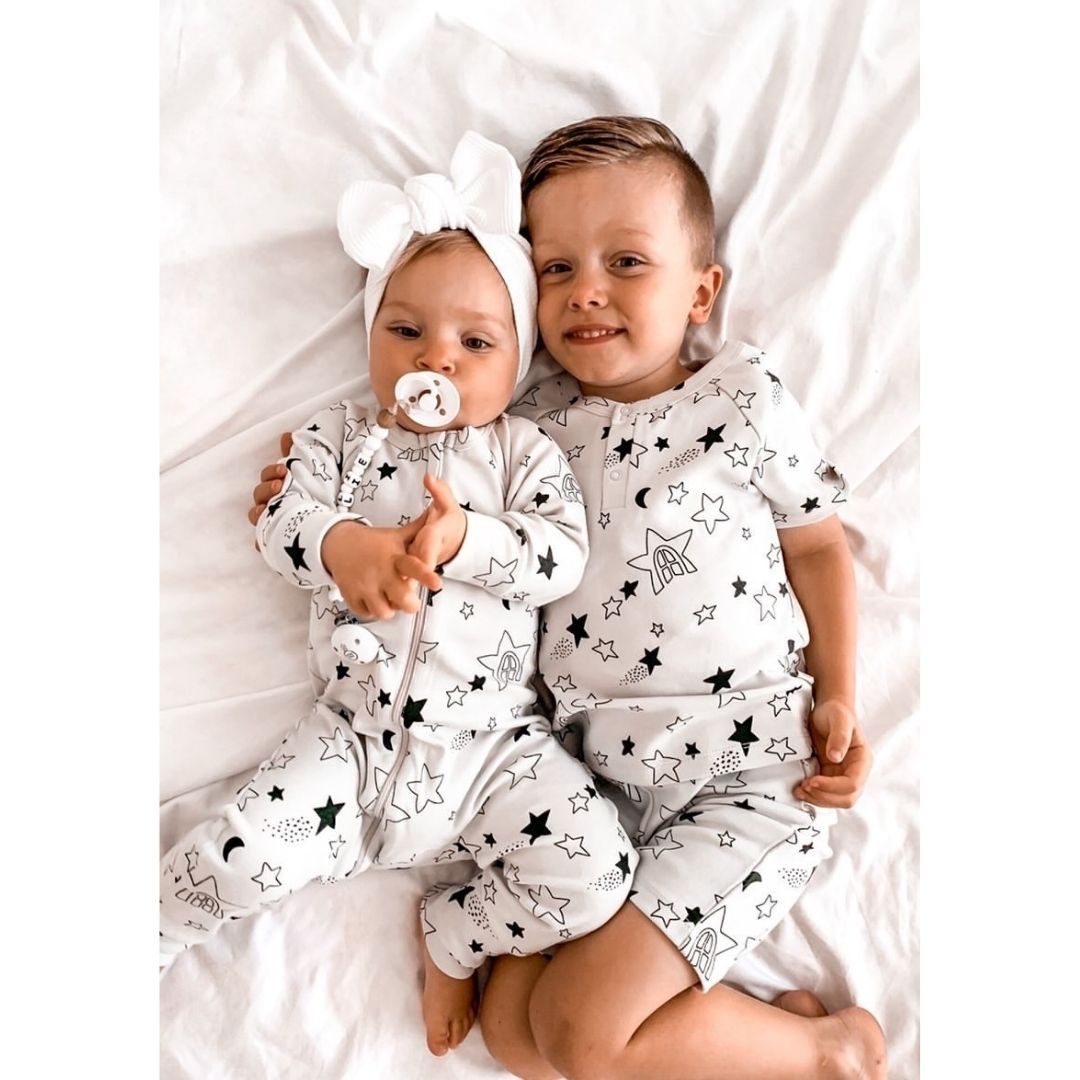 Wolfie Long Sleeve Kip Zip Romper