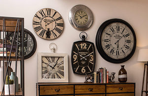 Enhance the look of your room with our new collection of Clocks