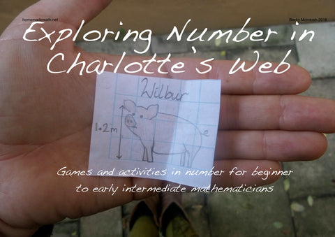 Home home math Charlotte's Web maths unit homeschool activities