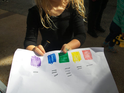 Kids survey colour home made math
