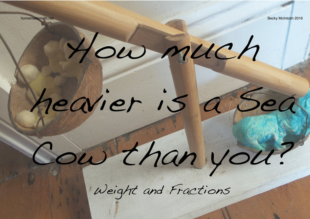 Free maths activity How much heavier is a sea cow than you Jungle Book math unit home made math