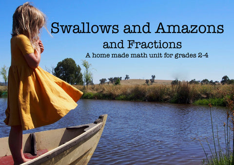 home made math unit swallows and amazons and fractions