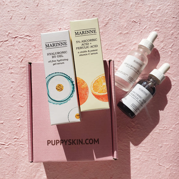 Basic Skin Care Gift Set - Hyaluronic Acid + Vitamin C