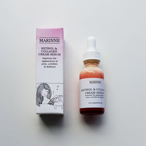 Retinol & Collagen Cream-Serum - 1% Retinol