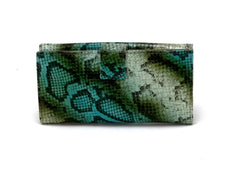Lyla  Olive snake printed leather ladies clutch purse