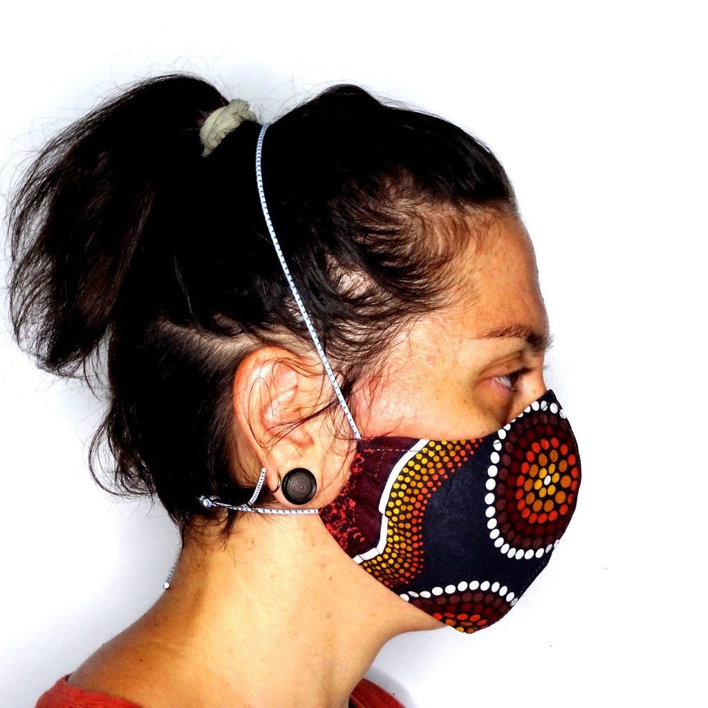 Face mask cloth reusable side view model
