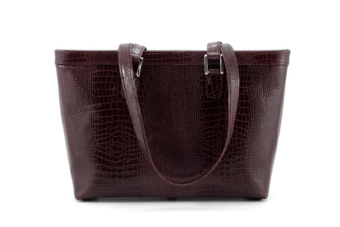 Emily  Medium brown smooth finish leather tote bag