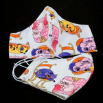 Face Mask - Washable cotton cloth with filter pocket model - cat print
