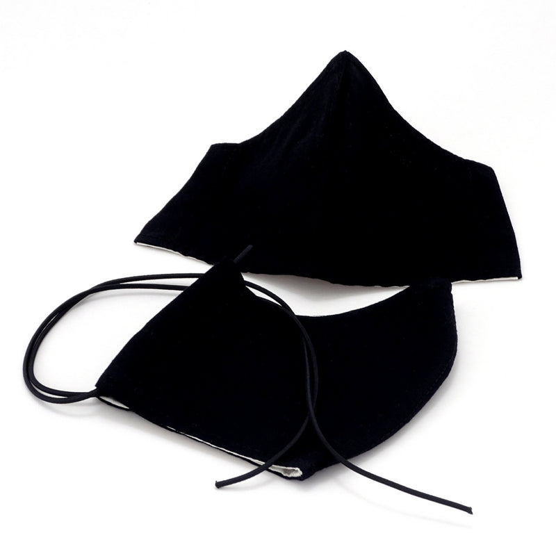 Face Mask - Washable cotton cloth with filter pocket model Black