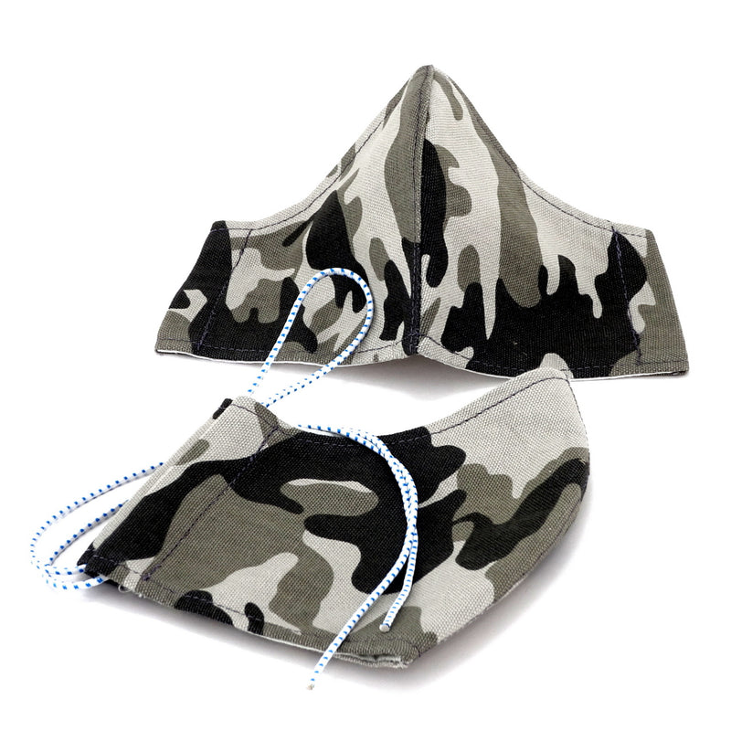 Face Mask - Washable cotton cloth with filter pocket model - camo print