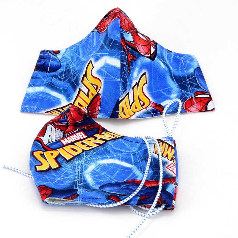 Face Mask - Washable cotton cloth standard model - spider man print