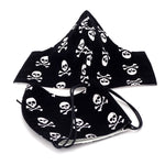Face Mask - Washable cotton cloth standard model - skull and cross bones print