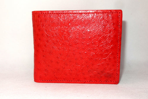 Mason  Red emu leather men's medium hip wallet front