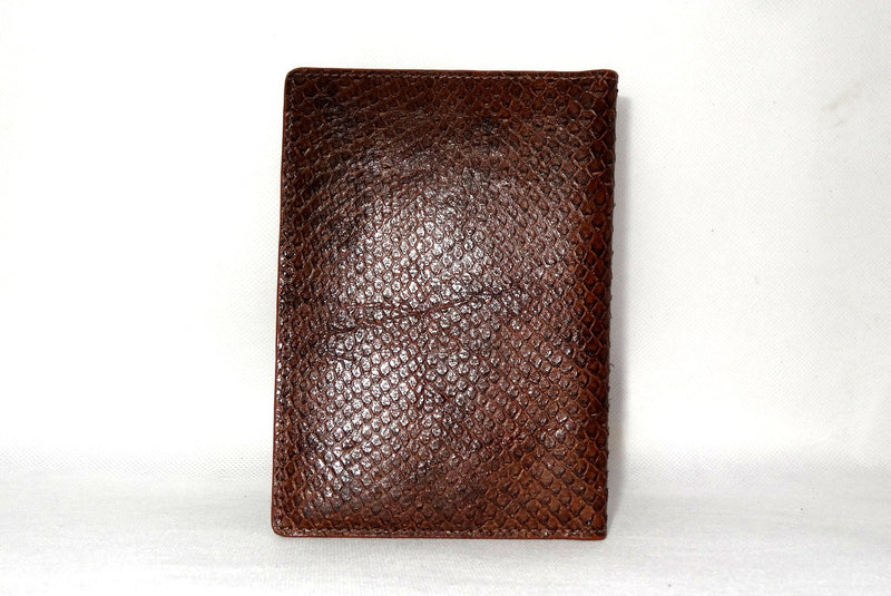 Passport Holder - Copper snake print leather back