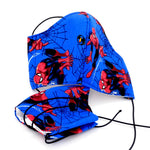 Face Mask - Washable cotton cloth 3 fabric layer model reusable spider man