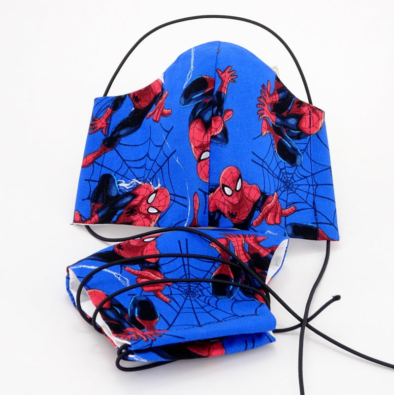 Face Mask - Washable cotton cloth basic model spider man 2 fabric print