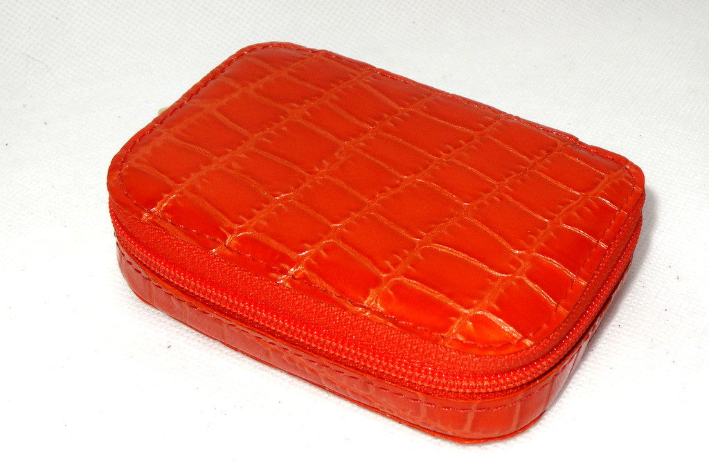 Zip purse large leather