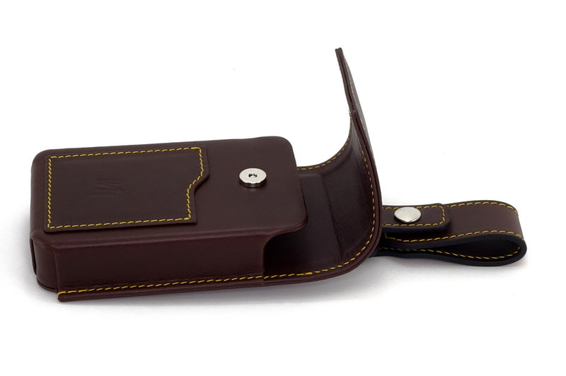 Holster style phone case side view with lid open
