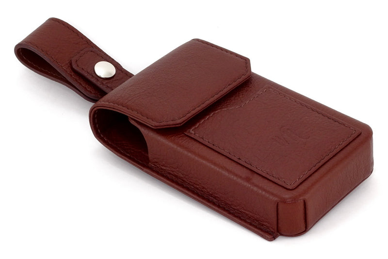 Holster phone case Ox blood showing front and belt attachment