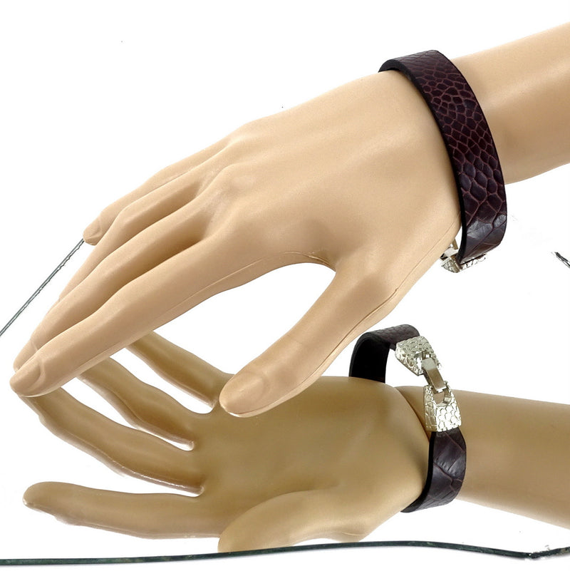 Lawrence sisters wrist straps leather jewellery large size