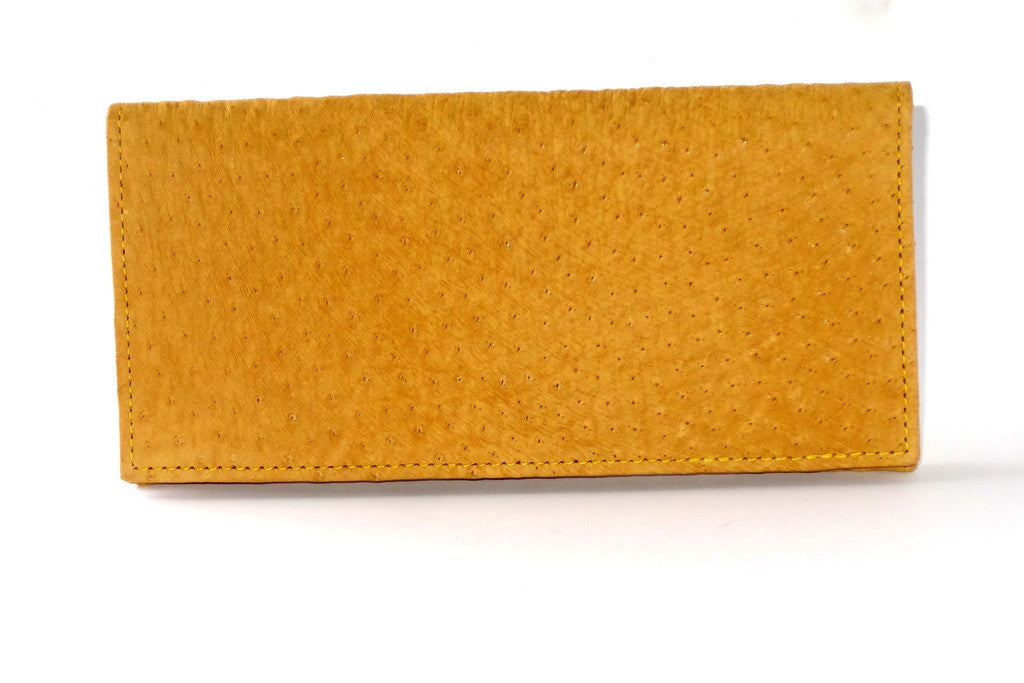 Caitlin  Emu Mustard suede finish ladies purse front view