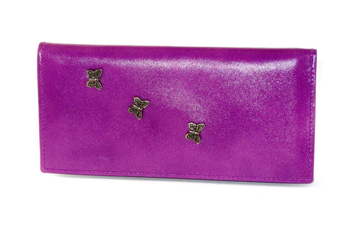 Christine  Lilac leather small ladies purse wallet
