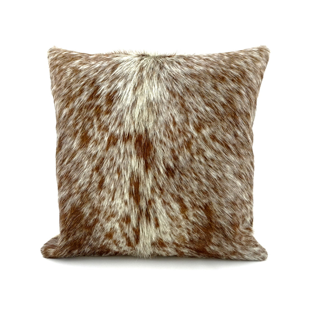 Cushion Covers Leather cow hair on hide front leather back