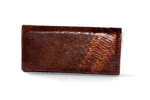 Caitlin  Copper snake print leather ladies purse front outside view