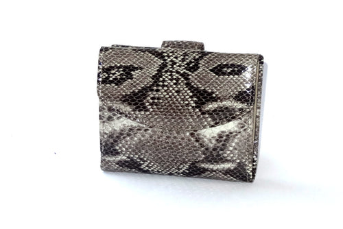 Anne  Leather snake print ladies purse front view