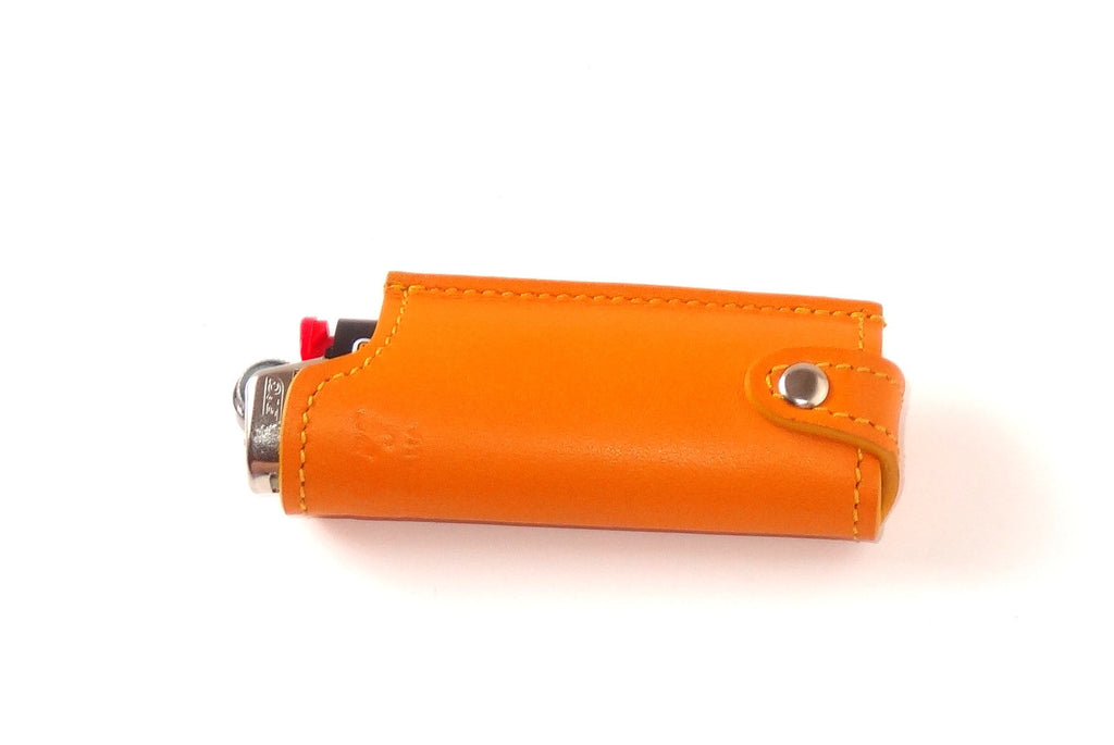 Lighter cover Plain leather