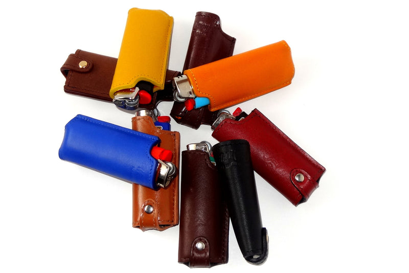 Lighter cover Plain leather group