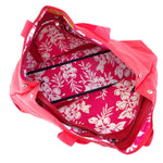 Felicity  Red nylon with large tassel large tote bag inside fabric