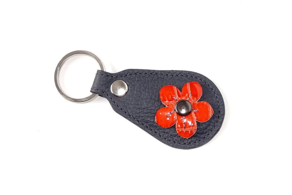 Key tags  Mandolin Leather with flower detail