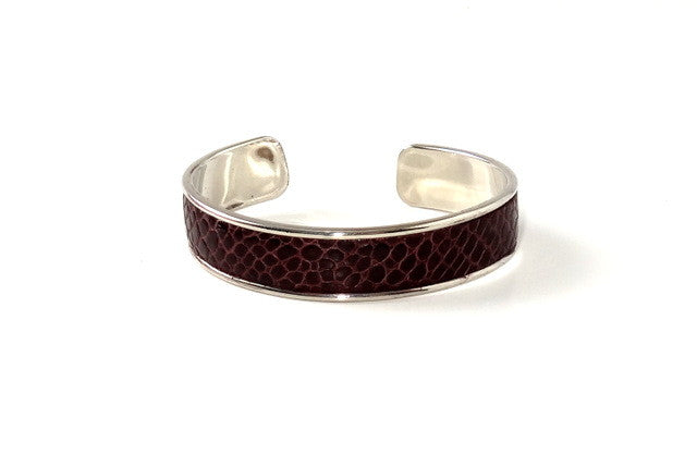 Sunny  Leather open ended bangle metal jewellery