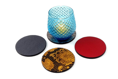 Coaster - Round leather group photo