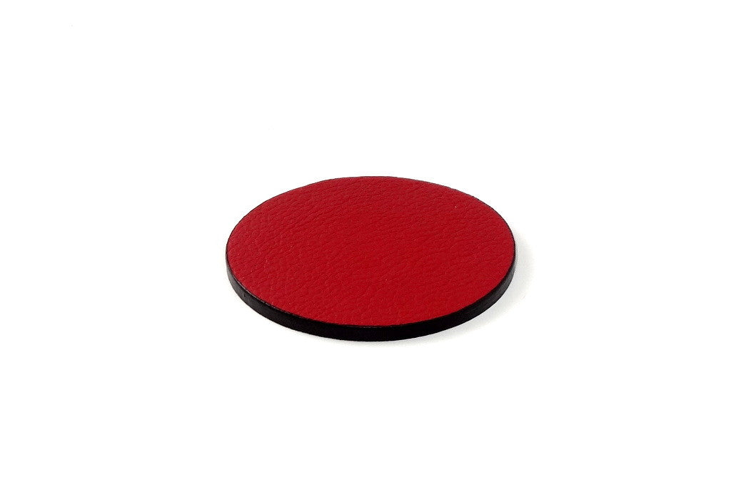 Coaster - Round leather red leather