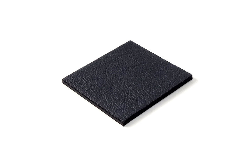 Coaster - Square leather grey leather
