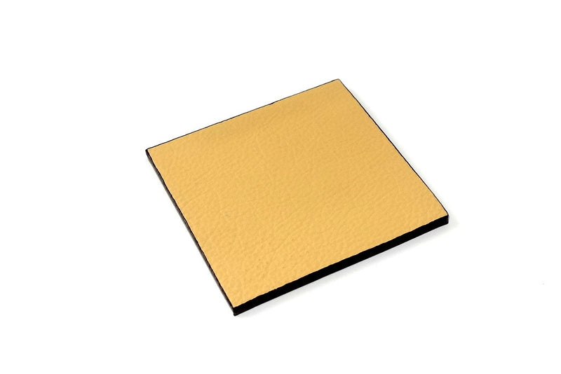 Coaster - Square leather custard leather