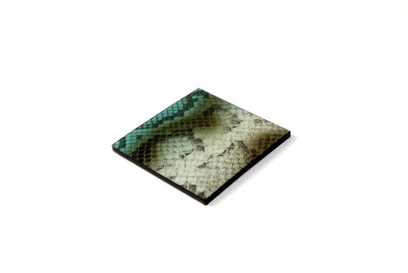 Coaster - Square leather snake printed leather