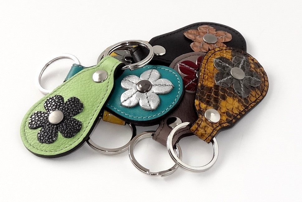 Key tags  Mandolin Leather with flower detail group