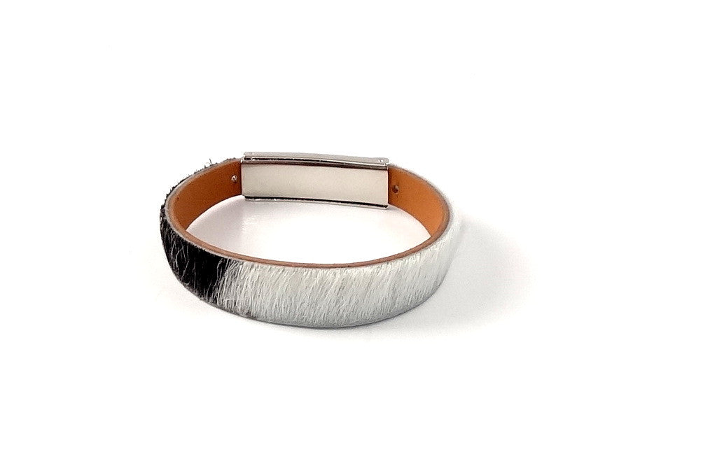 Robin  Wrist straps Hair on cow hide leather jewellery wristband wrist strap