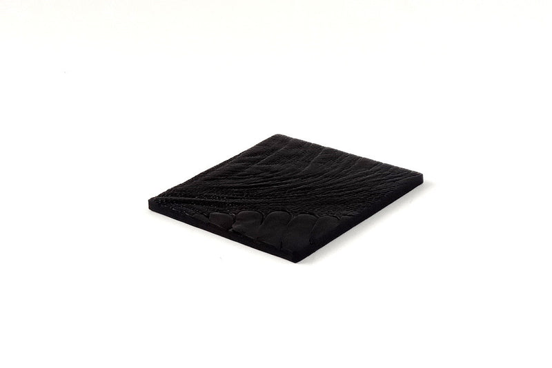 Coaster - Square leather ostrich leg black