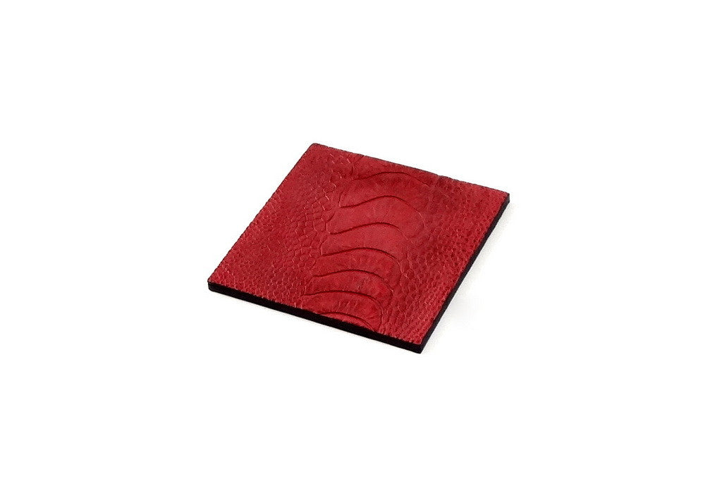Coaster - Square leather red ostrich leg