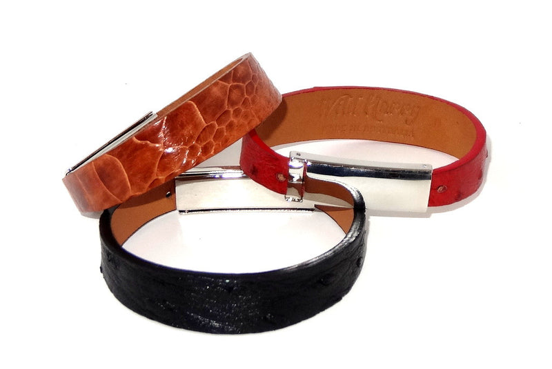 Robin  Wrist straps Ostrich leather jewellery wristband group