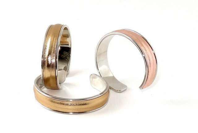 Sunny  Sheep skin open ended bangle metal jewellery group