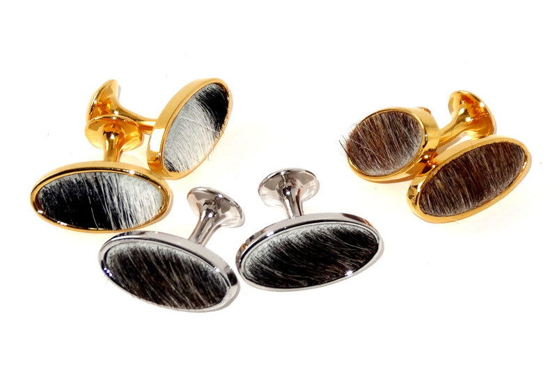 Cuff link   Hair on Hide costume jewellery group photo